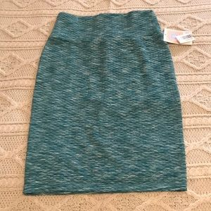NWT Teal diamond quilted LuLaRoe Cassie skirt XS